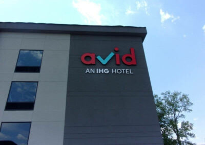 Other Avid hotel sign on building