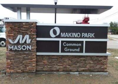 Mason, Makino park common ground sign