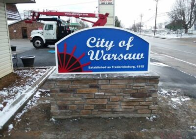 City of Warsaw Sign