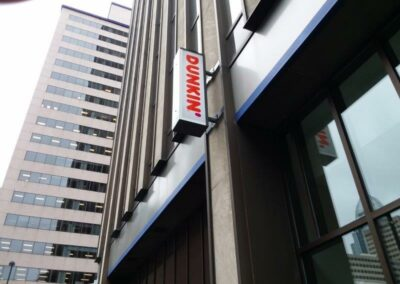 Dunkin Donuts outdoor logo on store front