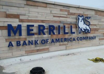 Merrill Bank of America Company sign