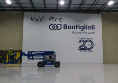 Bonfiglioli indoor sign