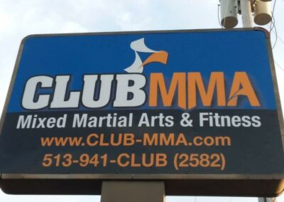CLUB MMA Sign
