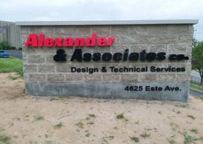 Alexander and Associates co. yard sign with logo